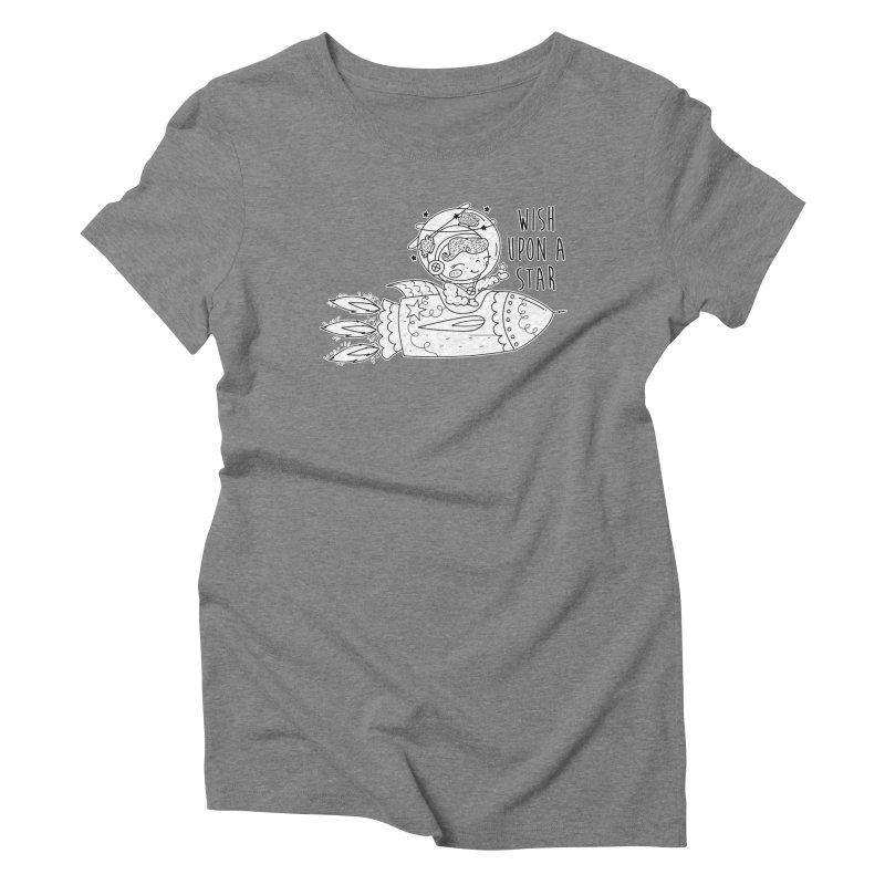 Rocket Girl Women's Triblend T-Shirt by RockerByeDestash Market