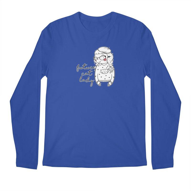 Future Cat Lady Men's Longsleeve T-Shirt by RockerByeDestash Market