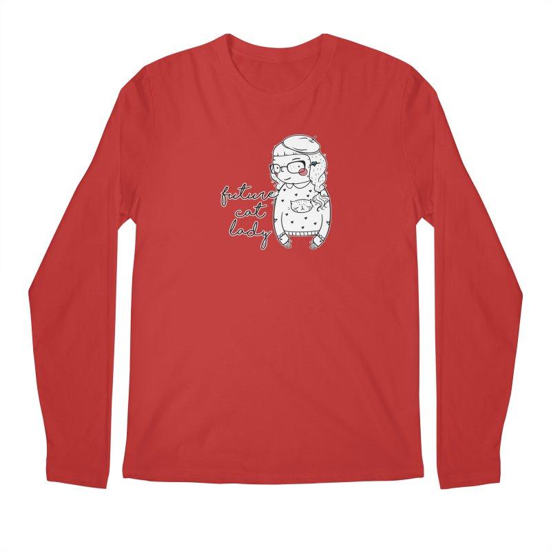 Future Cat Lady Men's Regular Longsleeve T-Shirt by RockerByeDestash Market
