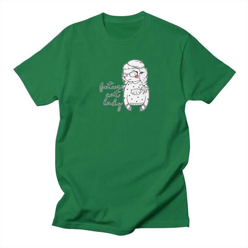 Future Cat Lady Men's Regular T-Shirt by RockerByeDestash Market