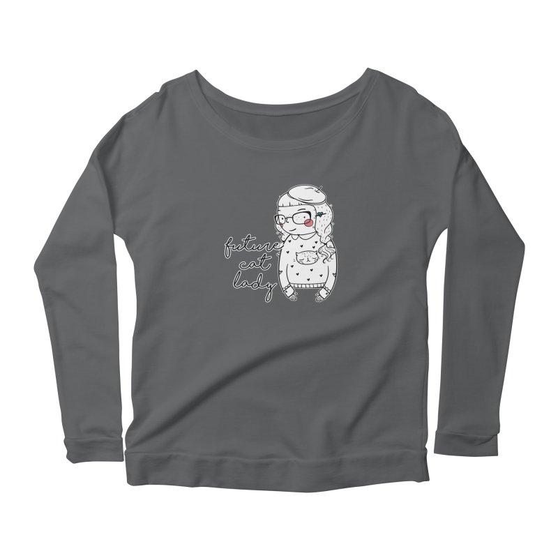 Future Cat Lady Women's Longsleeve T-Shirt by RockerByeDestash Market