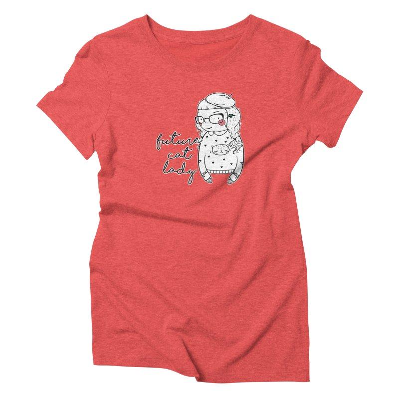 Future Cat Lady Women's Triblend T-Shirt by RockerByeDestash Market