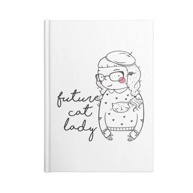 Future Cat Lady Accessories Lined Journal Notebook by RockerByeDestash Market