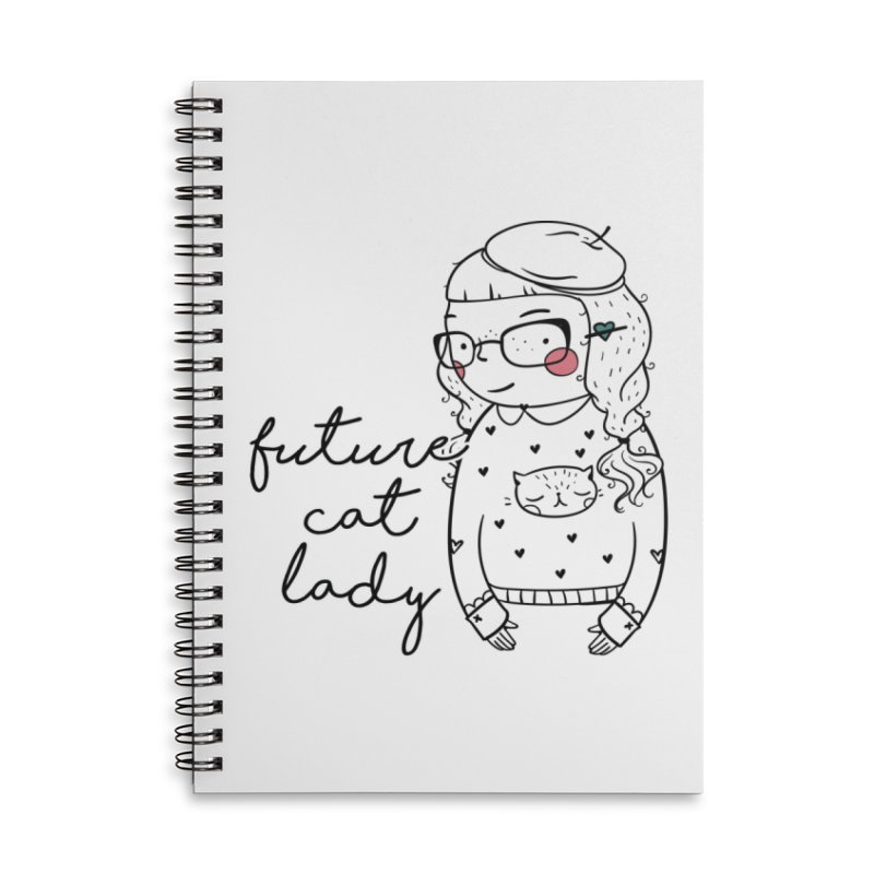 Future Cat Lady Accessories Notebook by RockerByeDestash Market