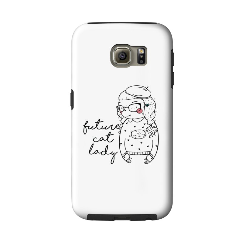 Future Cat Lady Accessories Phone Case by RockerByeDestash Market