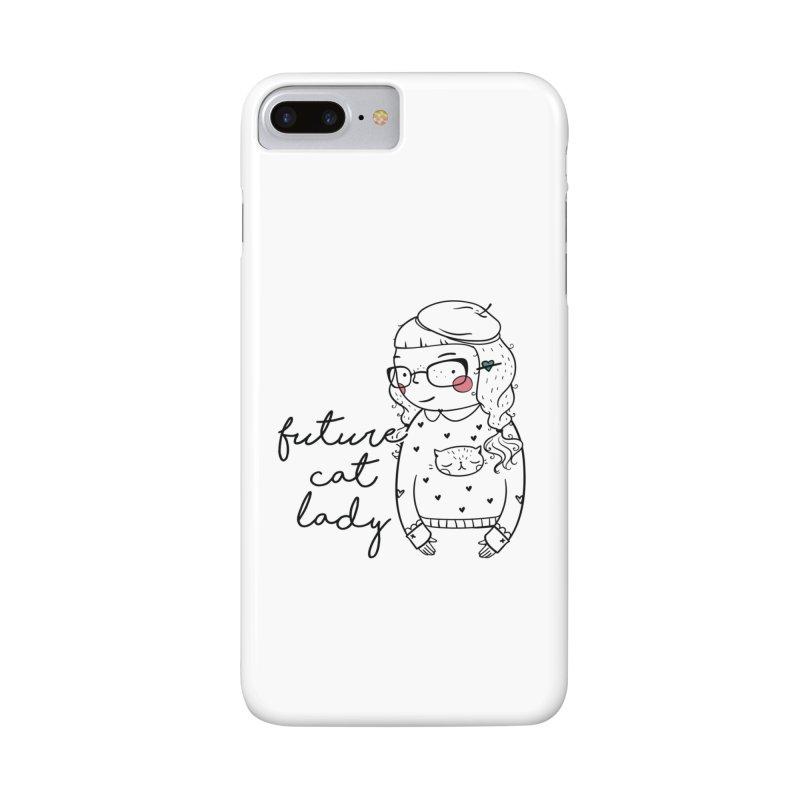 Future Cat Lady Accessories Phone Case by RockerByeDestash Market