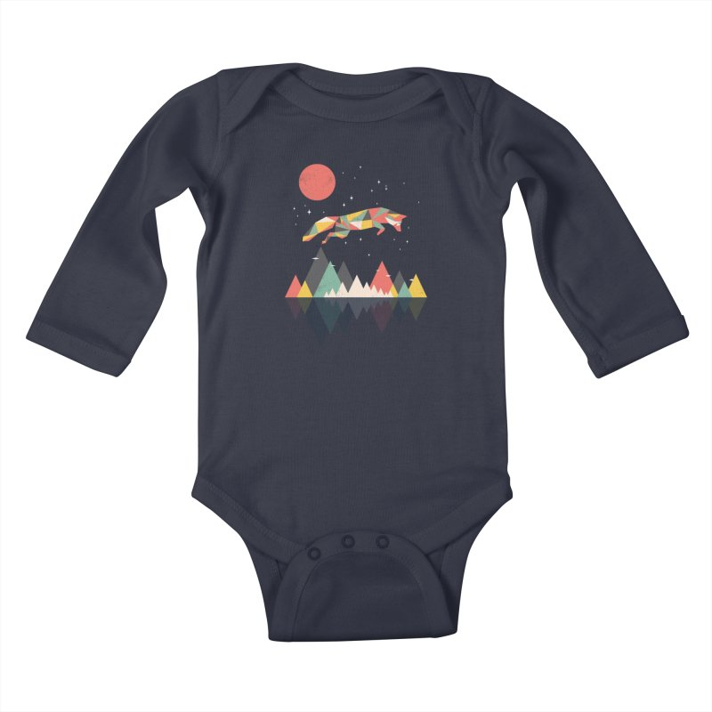 Wild as a fox Kids Baby Longsleeve Bodysuit by Rocketman