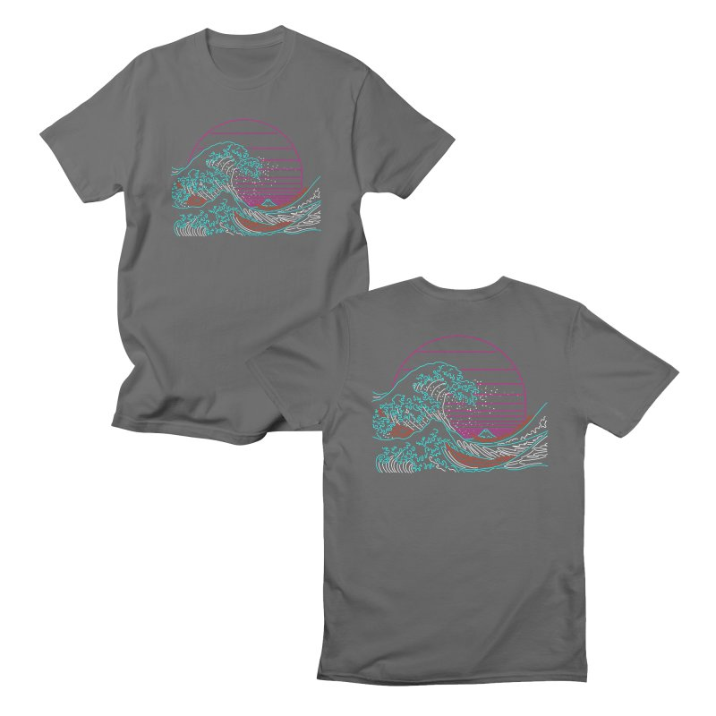 Great Wave Neon - Great Wave Off Kanagawa - Hokusai - Vintage Men's T-Shirt by Rocketman
