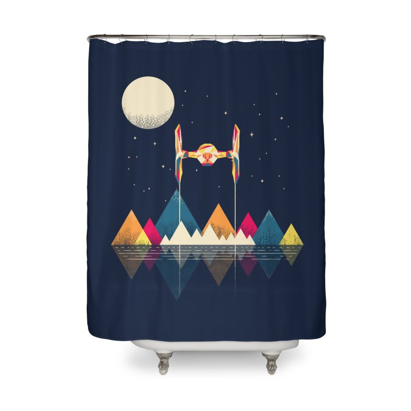Classic Fighter Home Shower Curtain by Rocketman