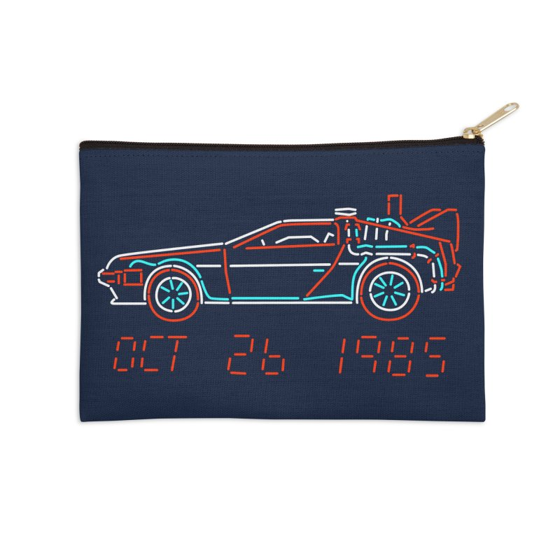 You built a time machine, out of a Delorean? Accessories Zip Pouch by Rocketman
