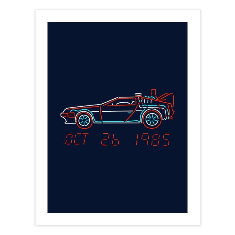 You built a time machine, out of a Delorean? Home Fine Art Print by Rocketman