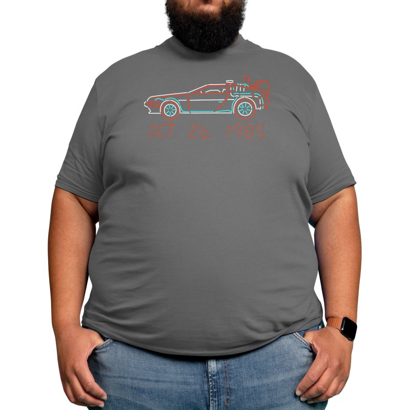 You built a time machine, out of a Delorean? Men's T-Shirt by Rocketman