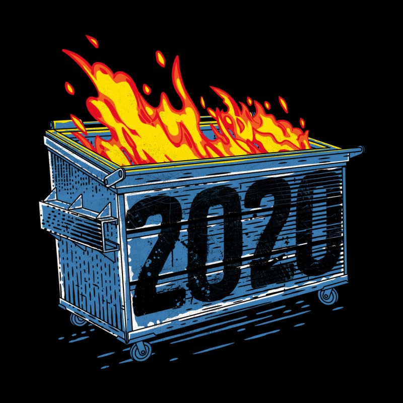Dumpster Fire 2020 Accessories Magnet by Rocketman