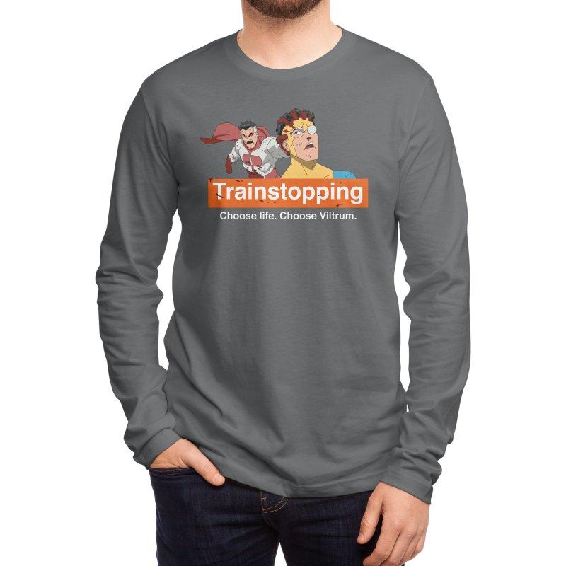 Trainstopping Men's Longsleeve T-Shirt by Rocketman