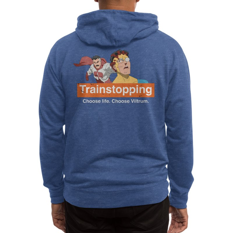 Trainstopping Men's Zip-Up Hoody by Rocketman