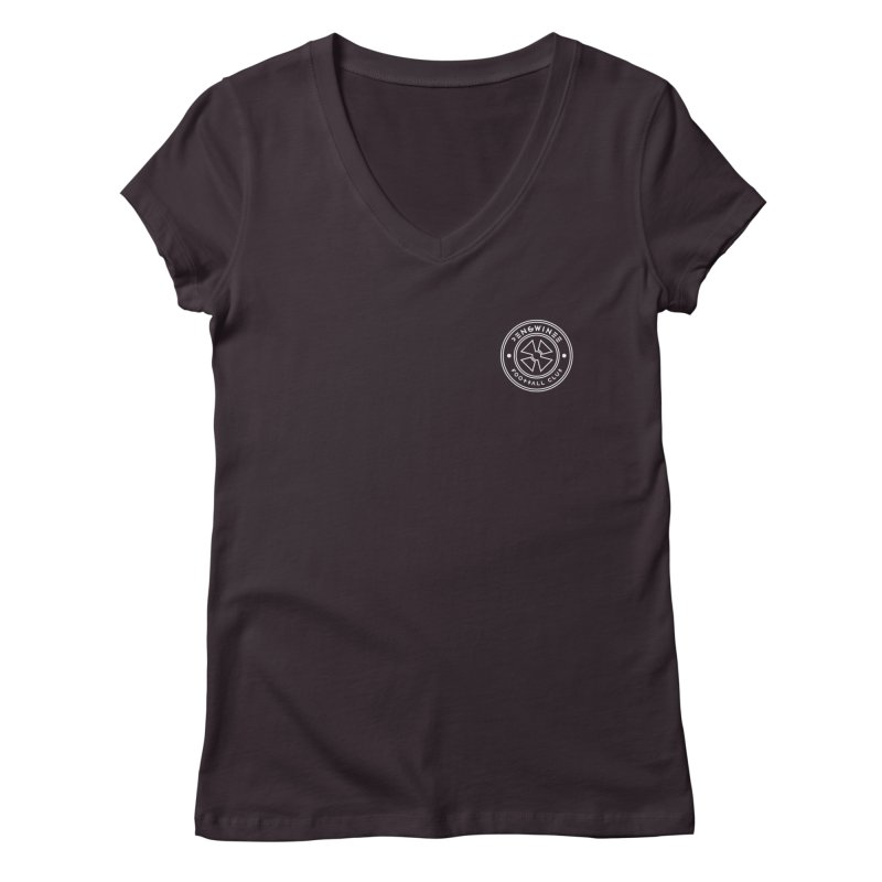 PENGWIN TEAM LOGO ON YOUR HEART Women's Regular V-Neck by THE PENGWIN OFFICIAL STORE