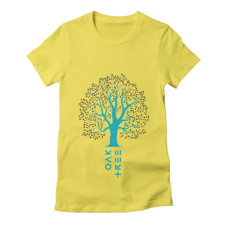 BIG OAK TREE Women's Fitted T-Shirt by THE PENGWIN OFFICIAL STORE