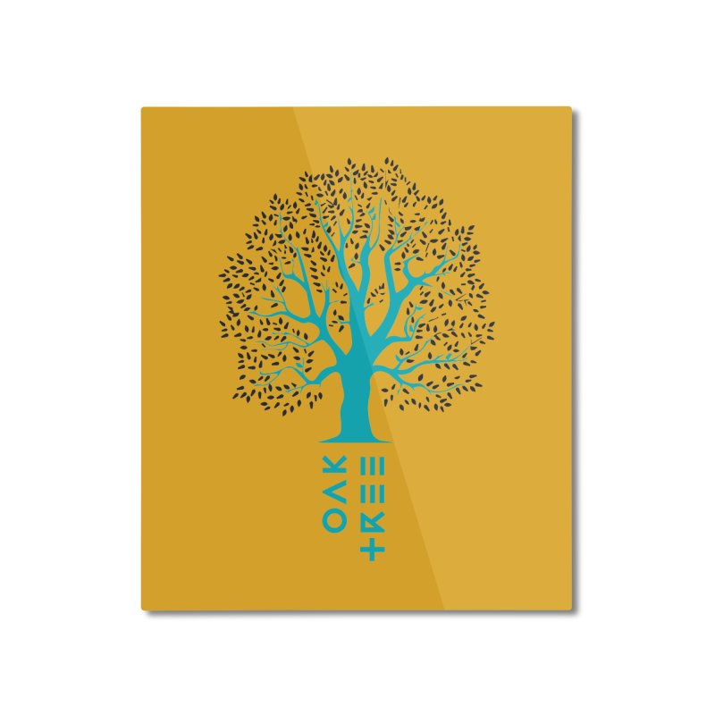 BIG OAK TREE Home Mounted Aluminum Print by THE PENGWIN OFFICIAL STORE