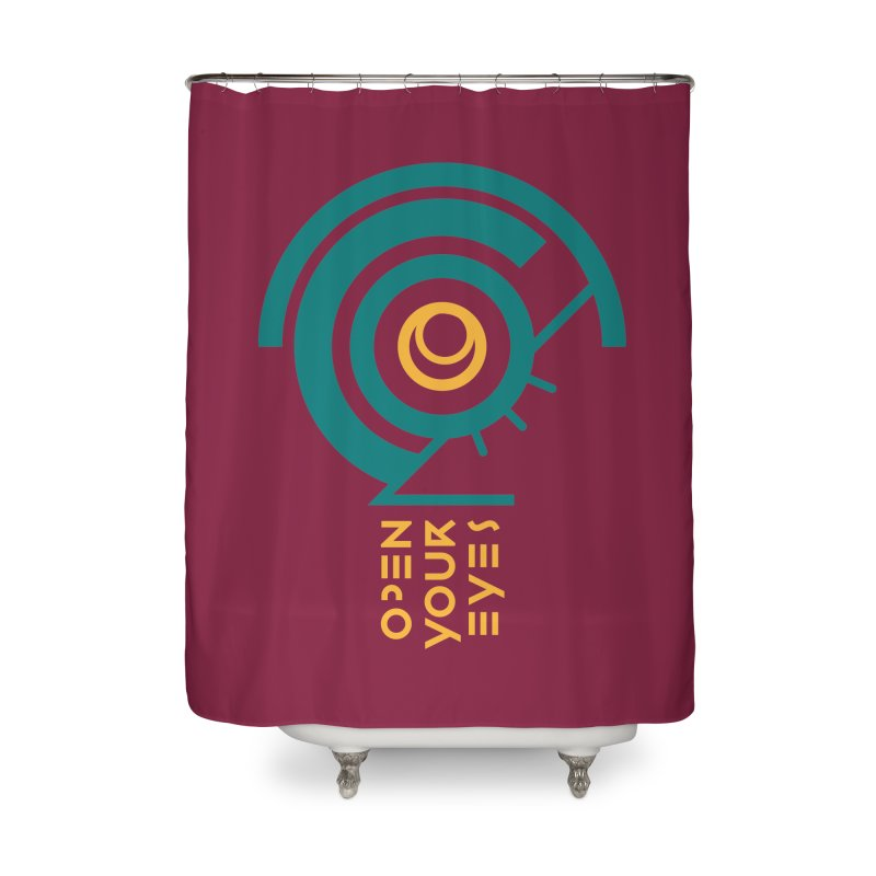 BIG OPEN YOUR EYES Home Shower Curtain by THE PENGWIN OFFICIAL STORE