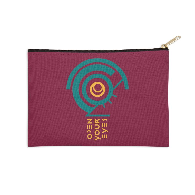 BIG OPEN YOUR EYES Accessories Zip Pouch by THE PENGWIN OFFICIAL STORE