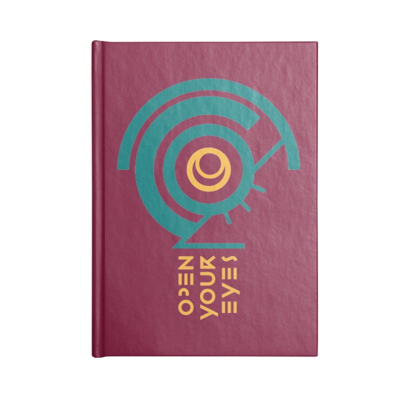 BIG OPEN YOUR EYES Accessories Notebook by THE PENGWIN OFFICIAL STORE