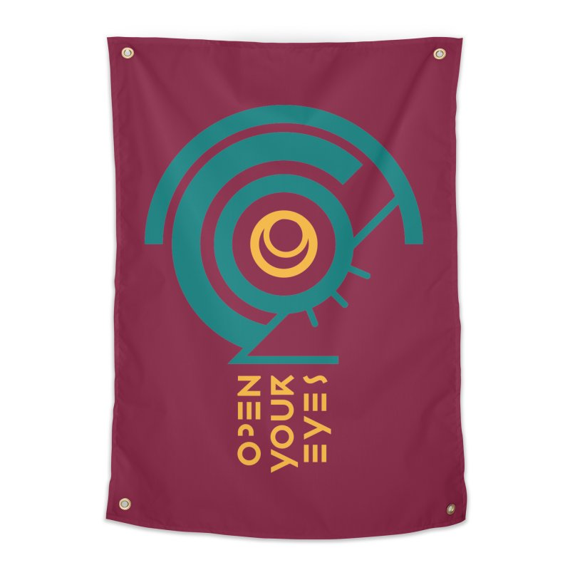 BIG OPEN YOUR EYES Home Tapestry by THE PENGWIN OFFICIAL STORE