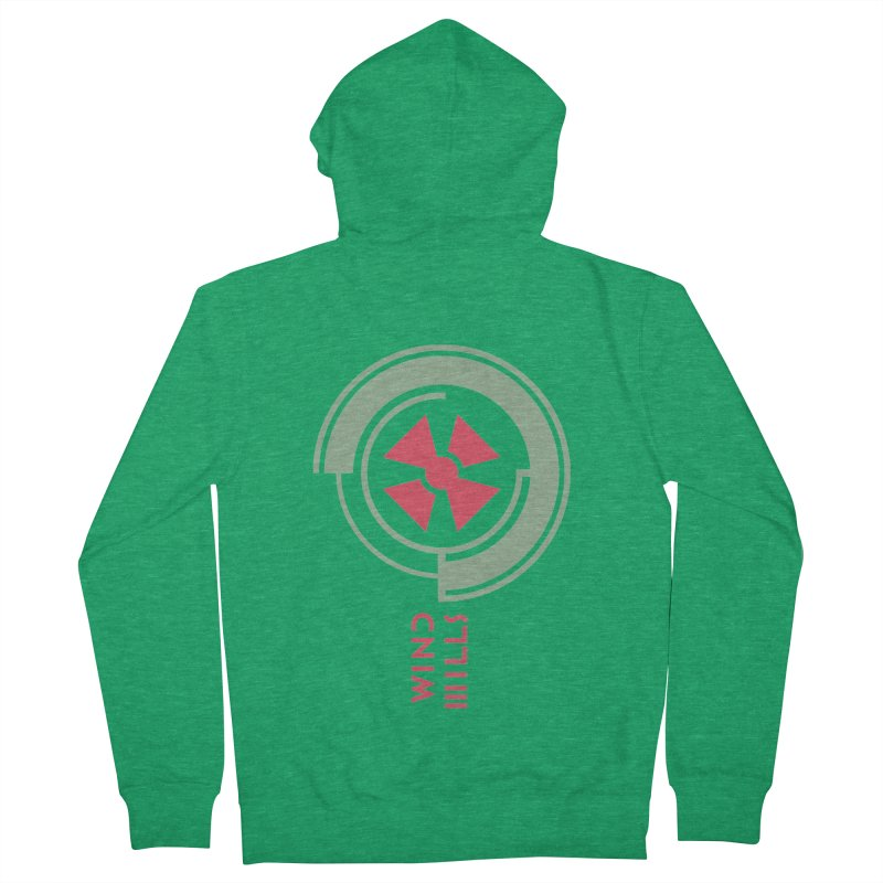 BIG WINDMILLS Women's French Terry Zip-Up Hoody by THE PENGWIN OFFICIAL STORE