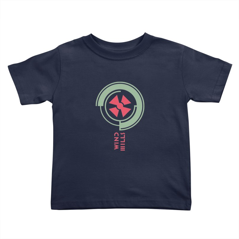 BIG WINDMILLS Kids Toddler T-Shirt by THE PENGWIN OFFICIAL STORE