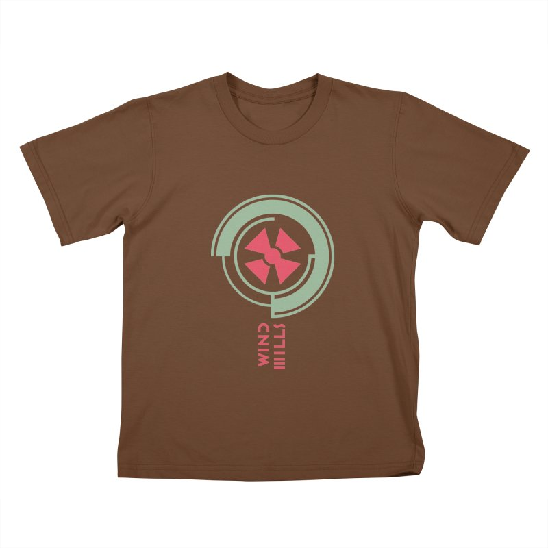 BIG WINDMILLS Kids T-Shirt by THE PENGWIN OFFICIAL STORE