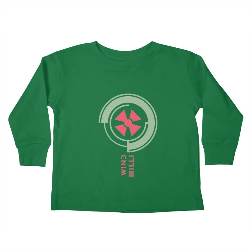BIG WINDMILLS Kids Toddler Longsleeve T-Shirt by THE PENGWIN OFFICIAL STORE
