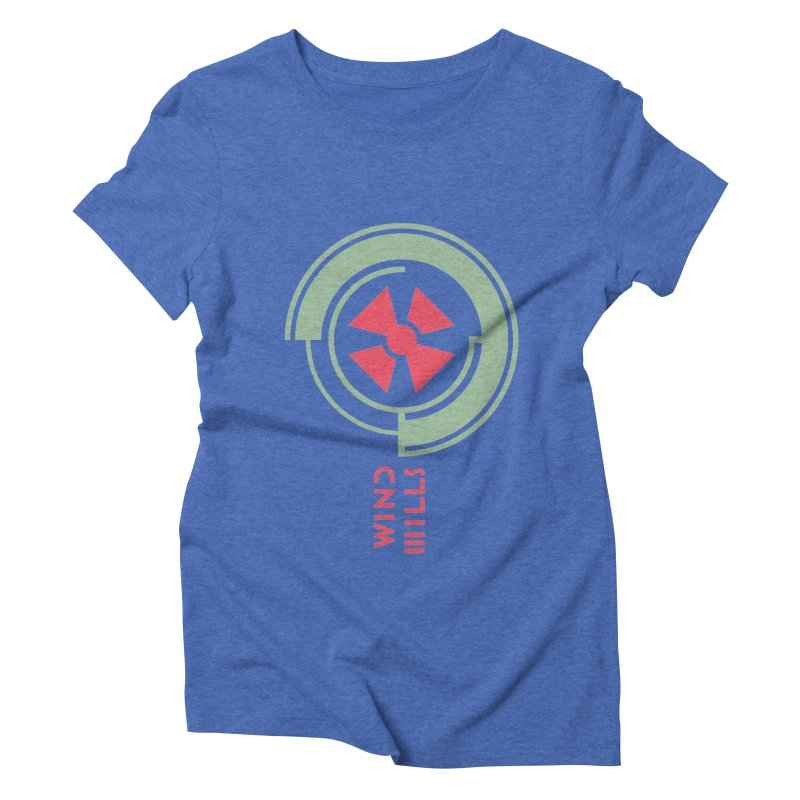 BIG WINDMILLS Women's Triblend T-Shirt by THE PENGWIN OFFICIAL STORE
