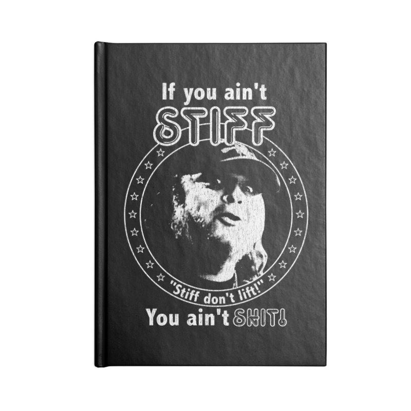 Johnny Stiff Accessories Lined Journal Notebook by Rocks Off Designs