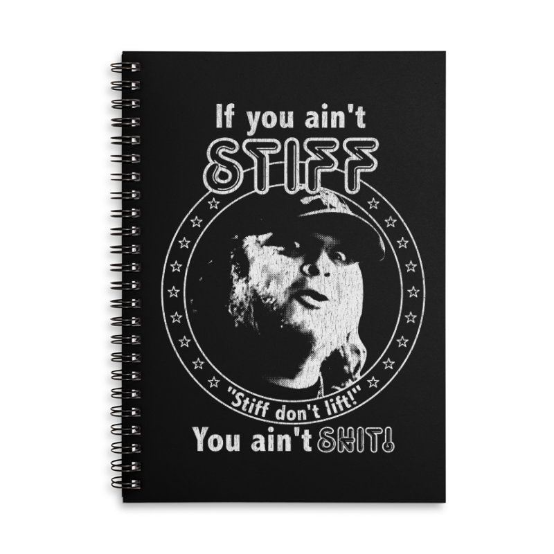 Johnny Stiff Accessories Lined Spiral Notebook by Rocks Off Designs