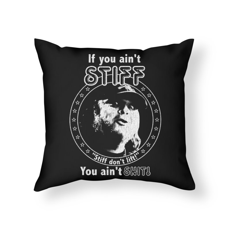 Johnny Stiff Home Throw Pillow by Rocks Off Designs
