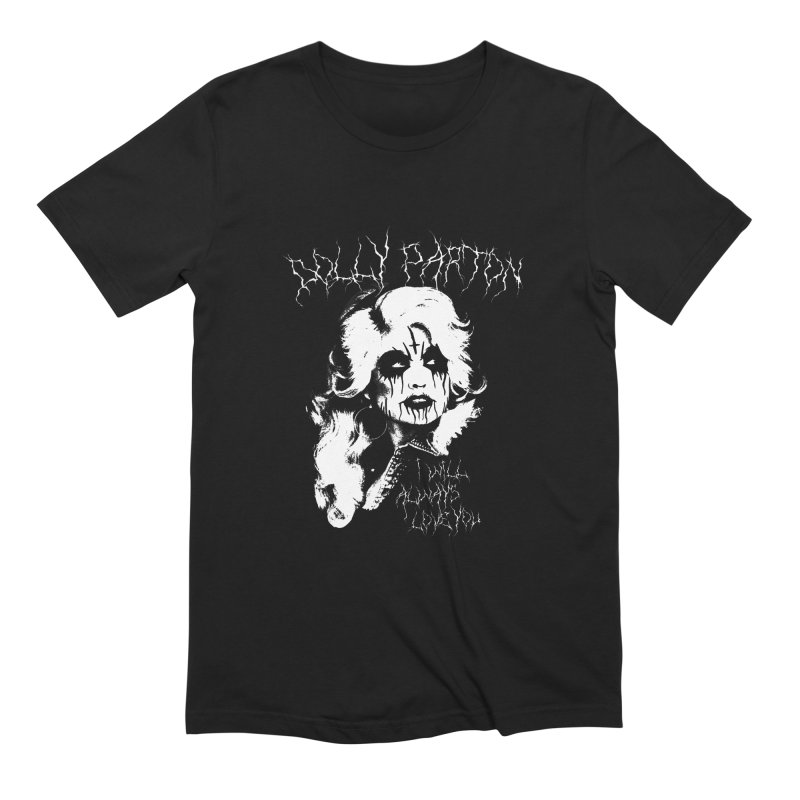 Black Metal Dolly in Men's Extra Soft T-Shirt Black by Rocks Off Designs