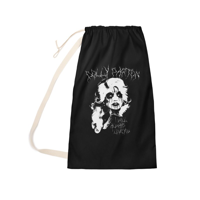 Black Metal Dolly Accessories Laundry Bag Bag by Rocks Off Designs