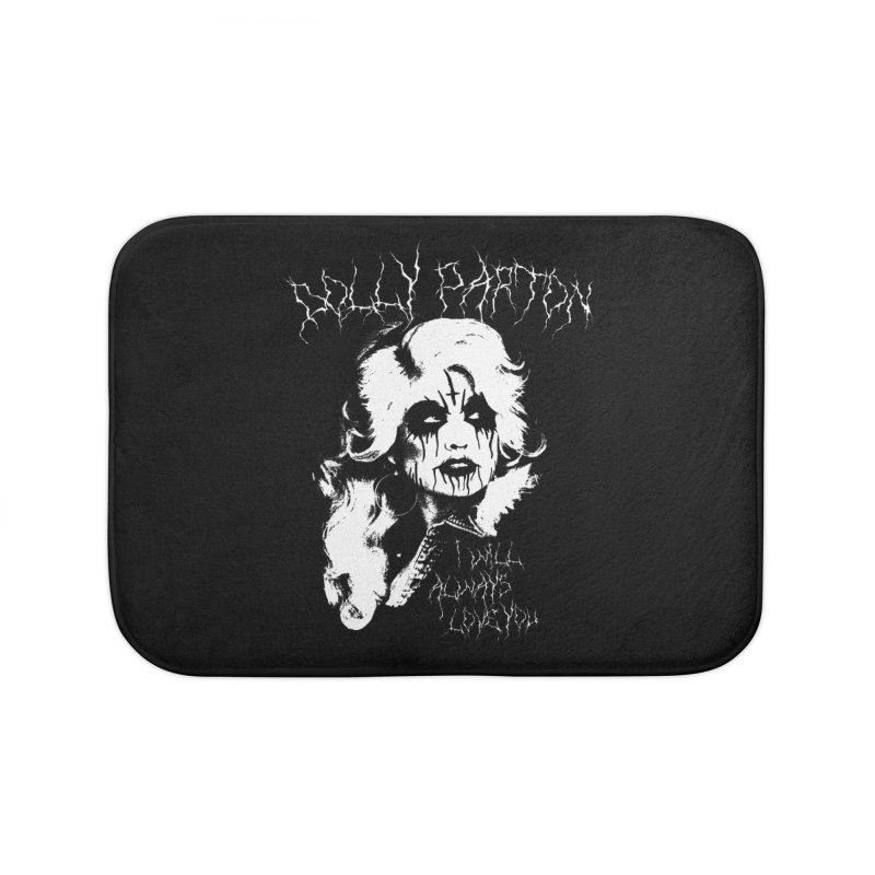 Black Metal Dolly Home Bath Mat by Rocks Off Designs