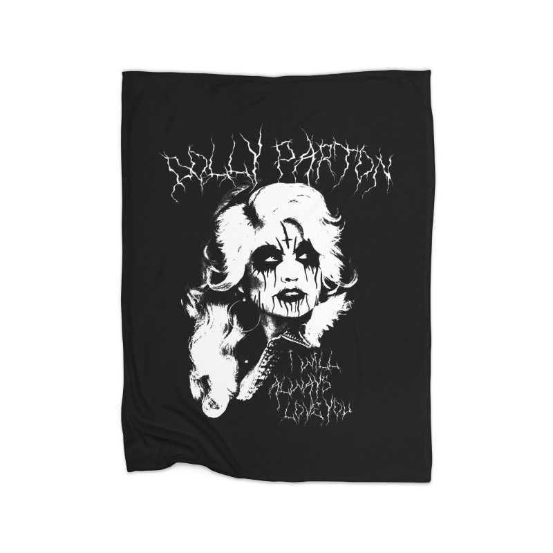 Black Metal Dolly Home Blanket by Rocks Off Designs