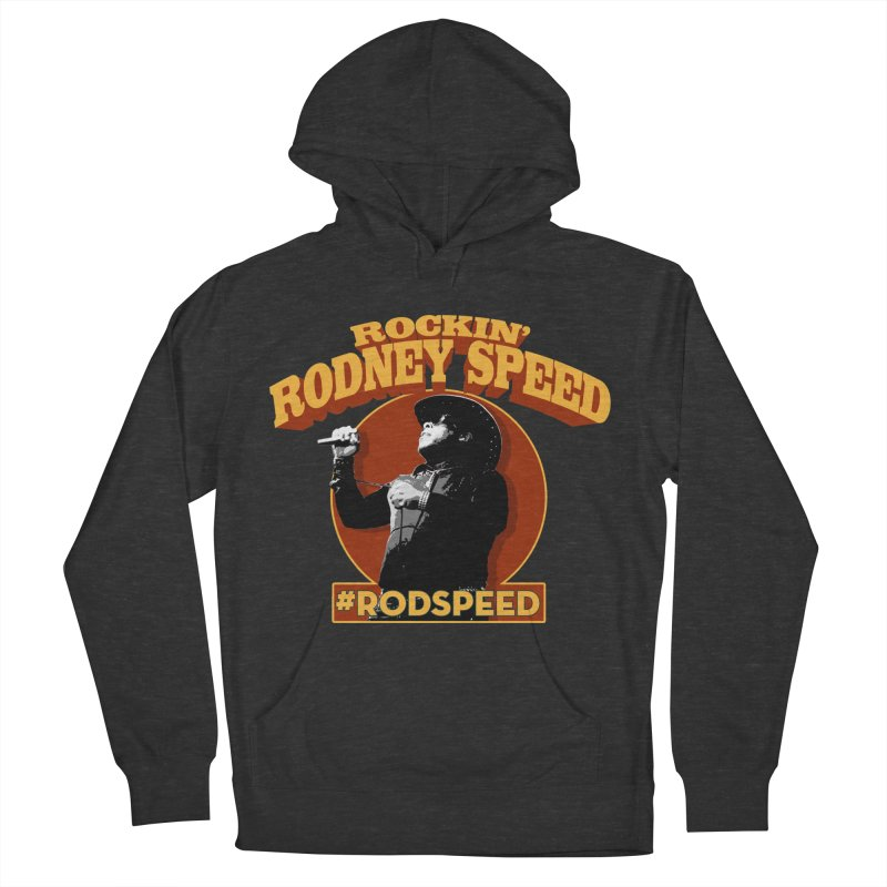 Rockin Rodney Speed Men's French Terry Pullover Hoody by Rocks Off Designs