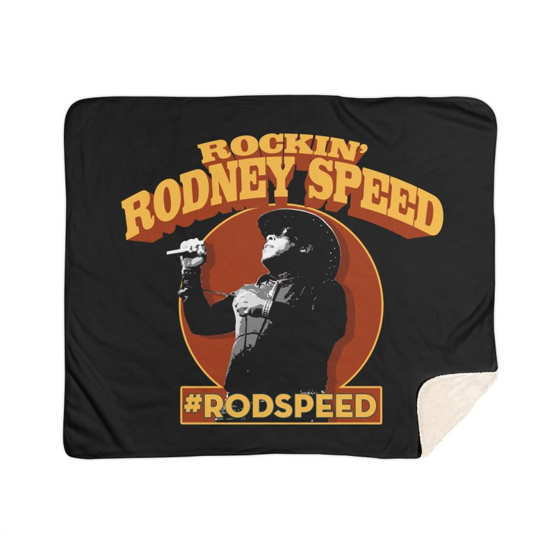 Rockin Rodney Speed Home Sherpa Blanket Blanket by Rocks Off Designs