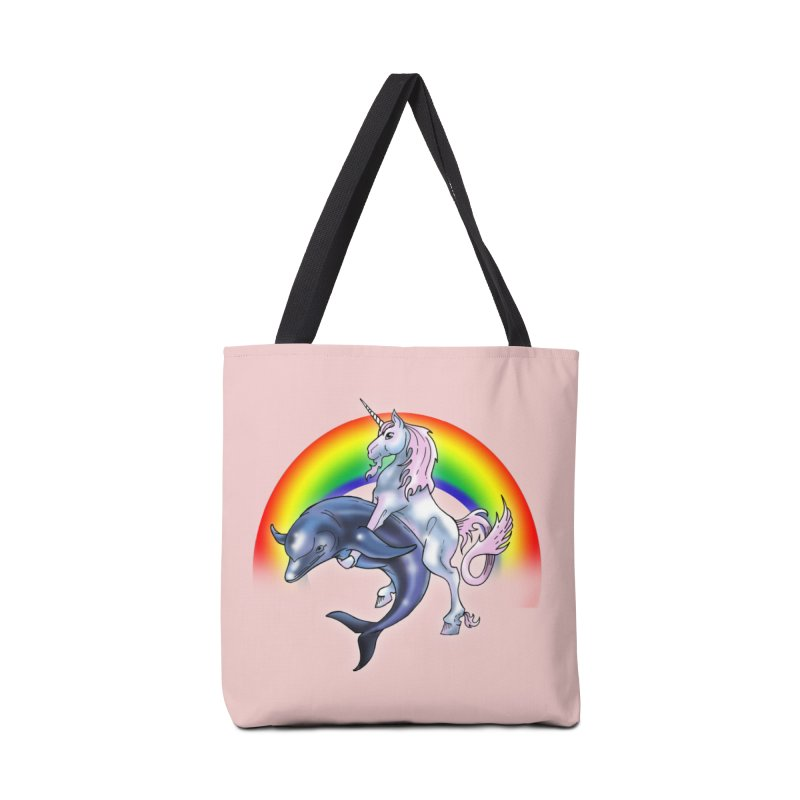 Dolphin Unicorn Love Accessories Tote Bag Bag by Rocks Off Designs