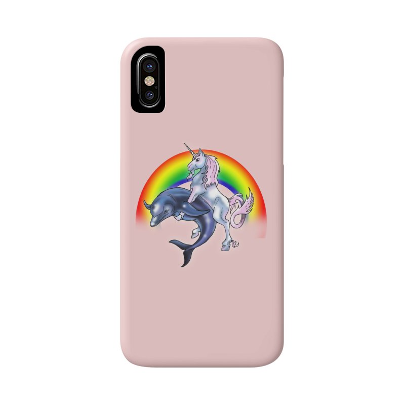 Dolphin Unicorn Love Accessories Phone Case by Rocks Off Designs