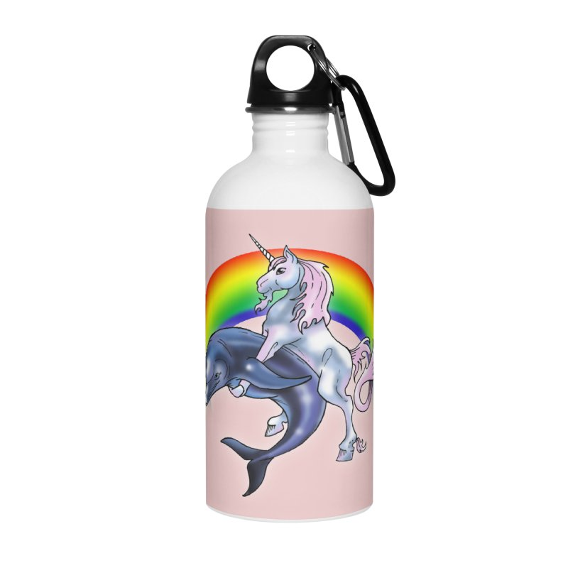 Dolphin Unicorn Love Accessories Water Bottle by Rocks Off Designs