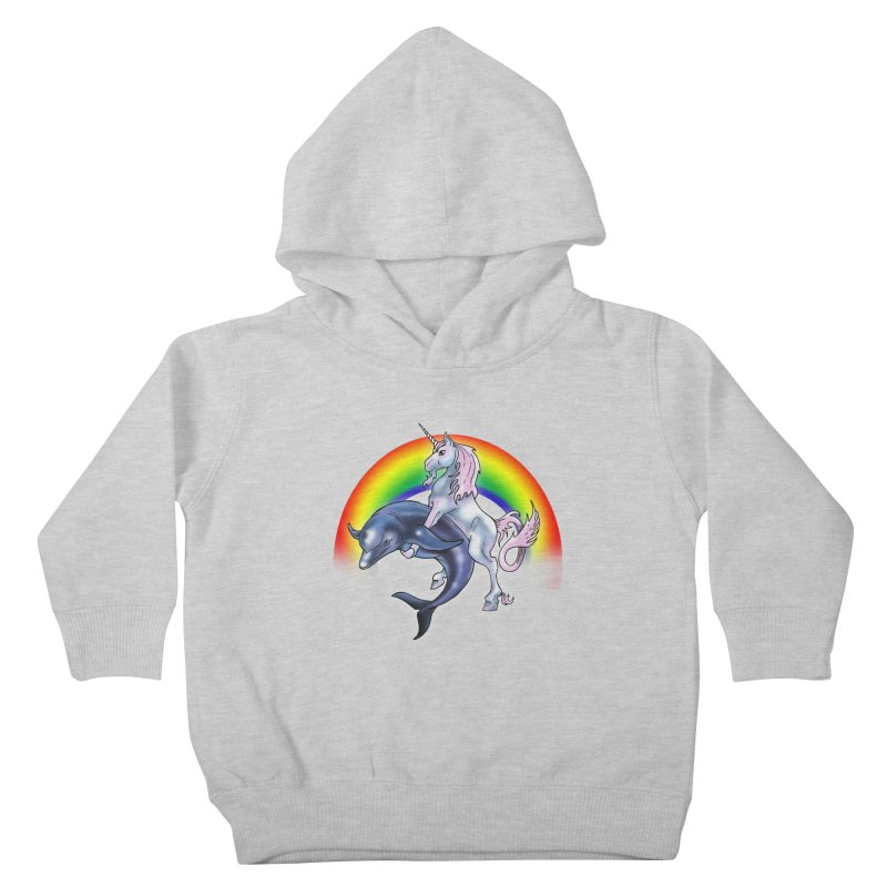 Dolphin Unicorn Love Kids Toddler Pullover Hoody by Rocks Off Designs