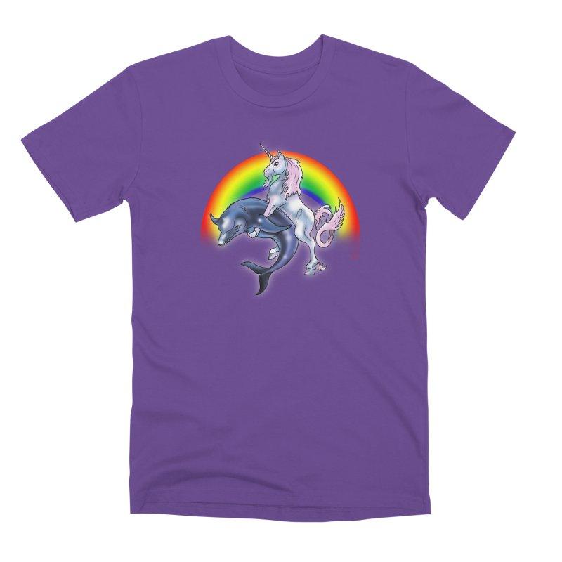 Dolphin Unicorn Love Men's Premium T-Shirt by Rocks Off Designs