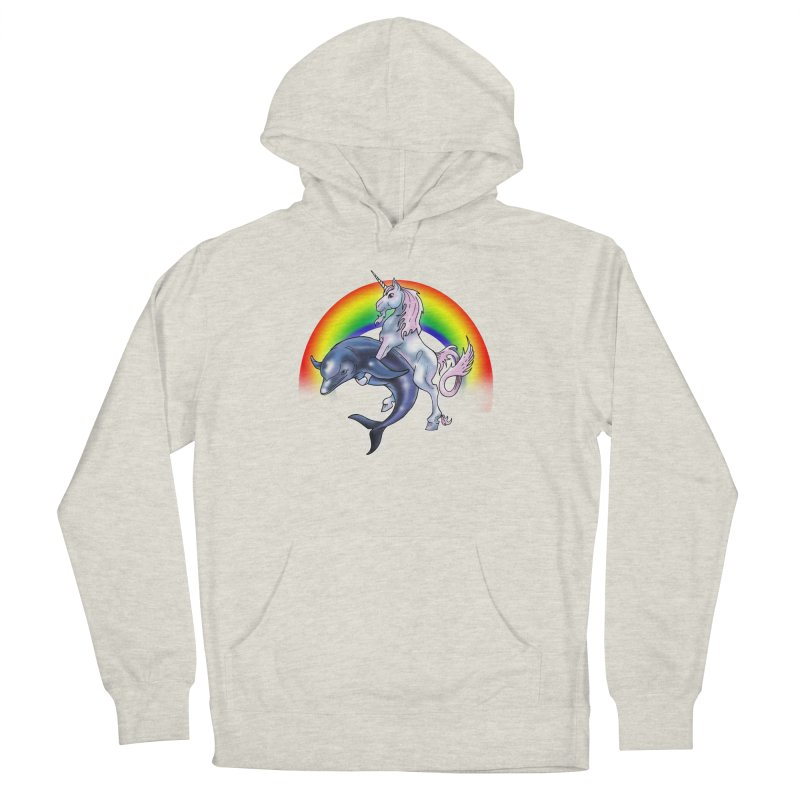 Dolphin Unicorn Love Women's French Terry Pullover Hoody by Rocks Off Designs