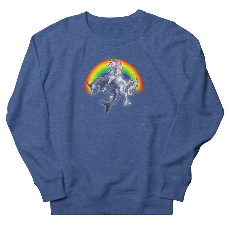 Dolphin Unicorn Love Men's Sweatshirt by Rocks Off Designs