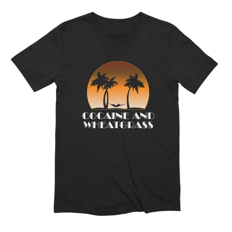 Cocaine & Wheatgrass Men's T-Shirt by Rocks Off Designs