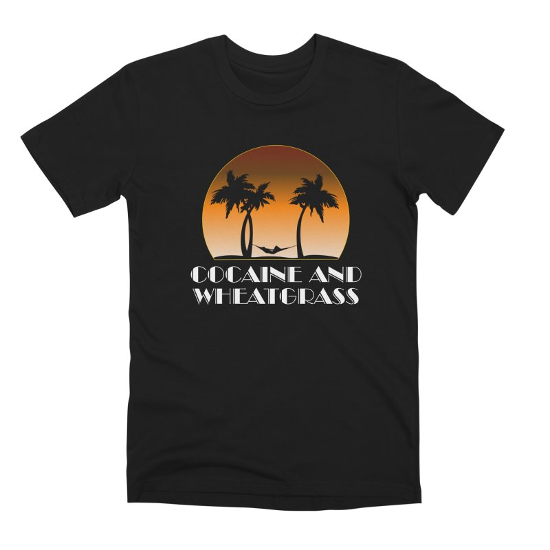 Cocaine & Wheatgrass Men's Premium T-Shirt by Rocks Off Designs