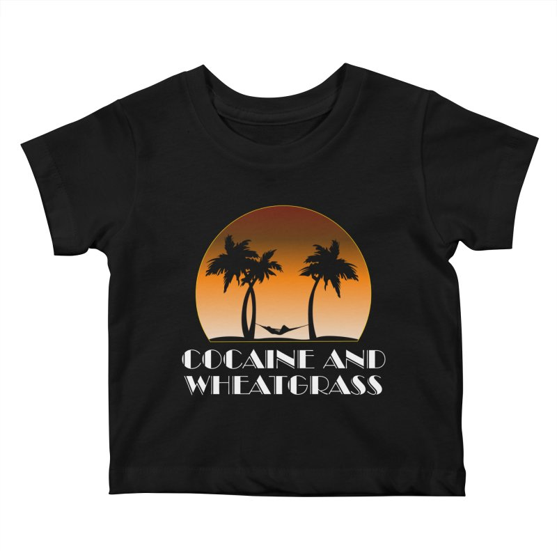 Cocaine & Wheatgrass Kids Baby T-Shirt by Rocks Off Designs